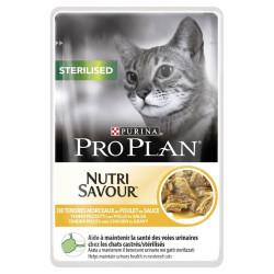 Purina pro plan nutri savour para gatos esterilizados con pollo 85grs