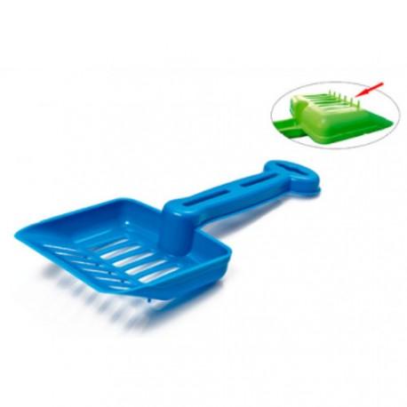 Pala con rastrillo para bandeja higiénica