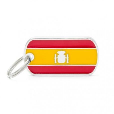 Placa identificativa bandera de España