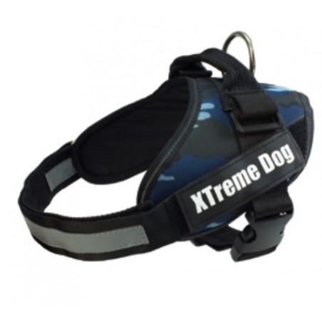 Arnés Xtreme Dog Camuflaje Azul para perros