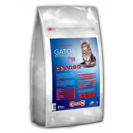 Canun gatos esterilizados Omega 3 y 6