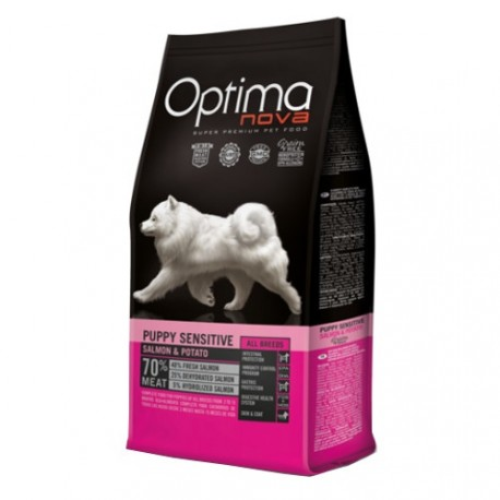 Optima Nova Puppy Sensitive Salmón y Patata