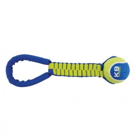 Juguete K9 Fitness by Zeus Tennis Ball Ballistic Twist Tug para perros