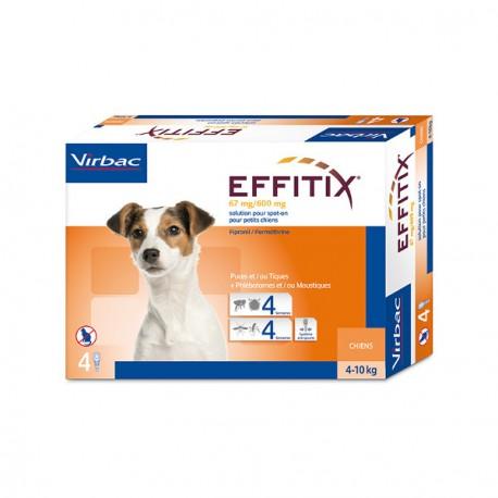Antiparasitario externo Effitix perros pequeños 4-10 Kg
