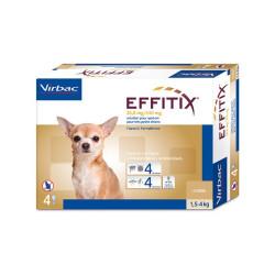 Antiparasitario externo Effitix perros muy pequeños 1,5-4 Kg