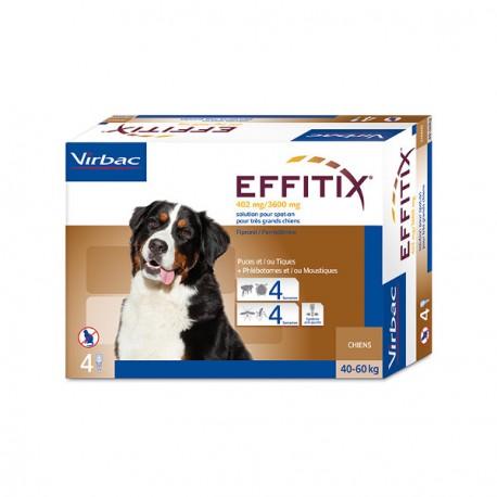 Antiparasitario externo Effitix perros y grandes 40-60 Kg