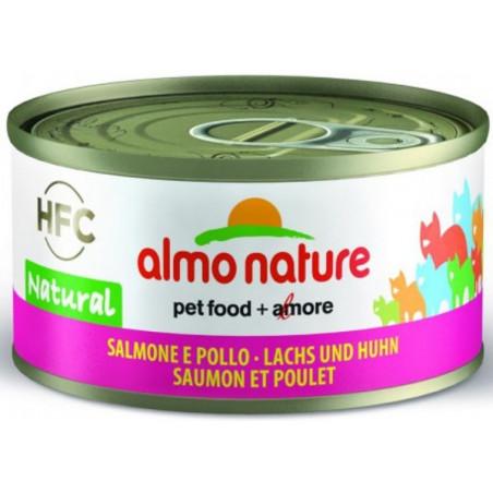 Almo Nature HFC Pollo con Salmón Gelatina para Gatos 70g