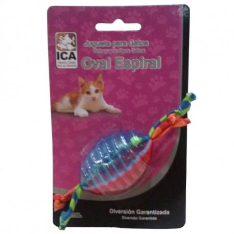 Juguete Oval Espiral para gatos