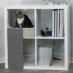 Cama de gatos para estanterías con rascador