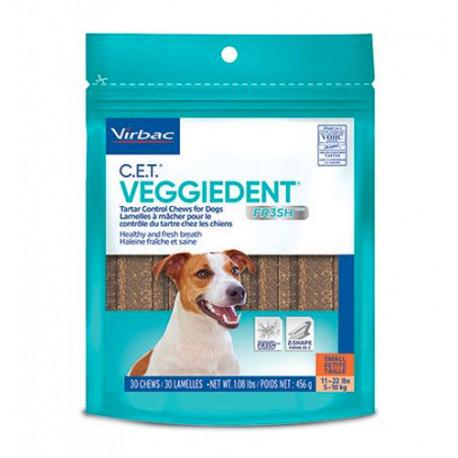 Láminas masticables Veggiedent Fresh para perros Small