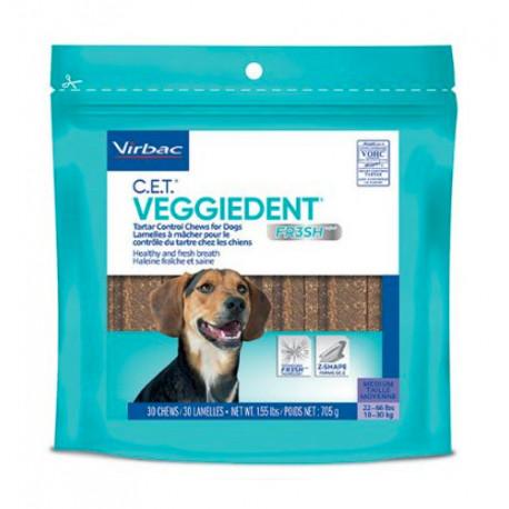 Láminas masticables Veggiedent Fresh para perros Medium
