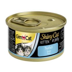 Latas gimcat shinycat kitten de atún en gelatina