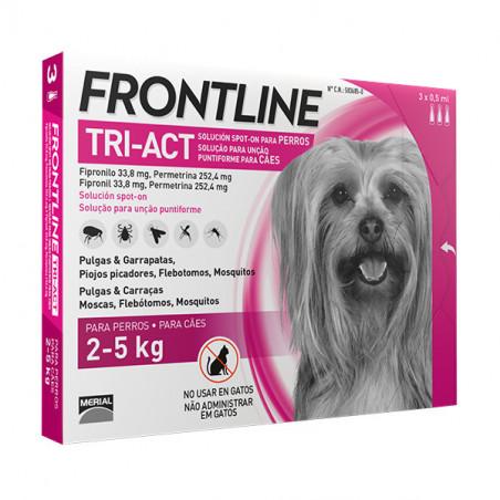 Frontline Tri-Act Pipetas Para Perros de 2kg a 5kg