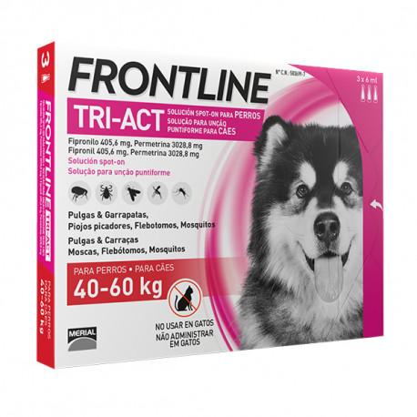 Frontline Tri-Act Pipetas Para Perros de 40kg a 60kg