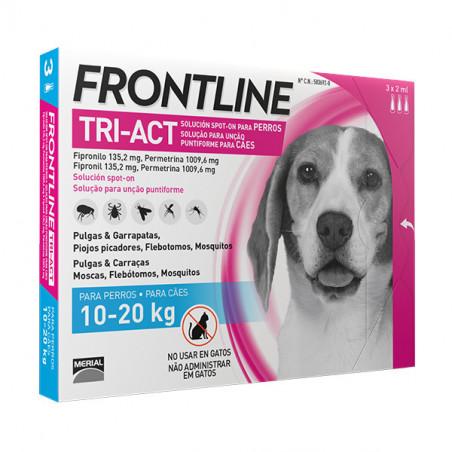Frontline Tri-Act Pipetas Para Perros de 10kg a 20kg