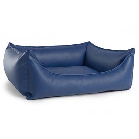 Cuna Ecopiel Azul perros