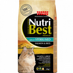 Nutribest Sterilised Gatos Adultos Salmón y Arroz