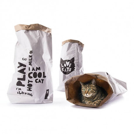 Saco de papel Love Cats' Bag