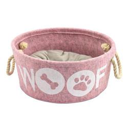 Cuna Atelier Woof Rosa Para Perros