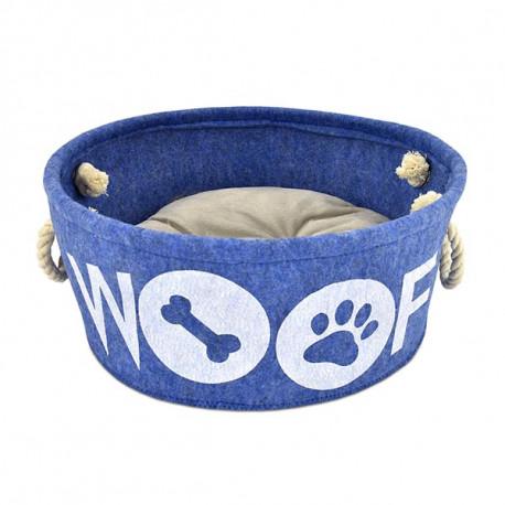 Cuna Atelier Woof Azul Para Perros