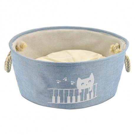 Cuna Atelier Cat Play Piano Azul Para Gatos