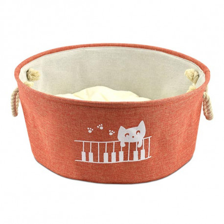 Cuna Atelier Cat Play Piano Rojo Para Gatos