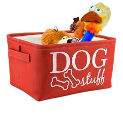 Cesta para perro Atelier Dog Stuff  Rojo Guarda juguetes