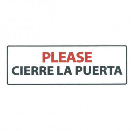 Placa Flexible Please Cierre la Puerta