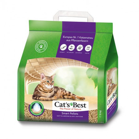 Lecho Higiénico Vegetal Cat's Best Smart Pellets Pelo Largo 10L