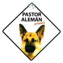 Señal Pastor Alemán A Bordo Para El Coche Con Ventosa
