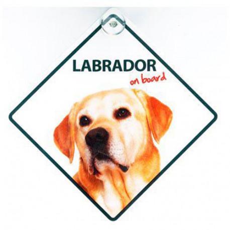 Señal Labrador A Bordo Para El Coche Con Ventosa