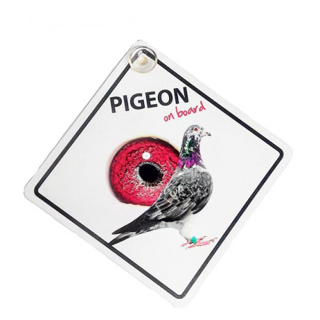 Señal Pigeon A Bordo Para El Coche Con Ventosa