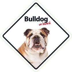 Señal Bulldog A Bordo Para El Coche Con Ventosa