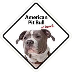 Señal American Pit Bull A Bordo Para El Coche Con Ventosa