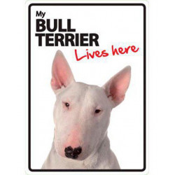 Placa Flexible My Bull Terrier vive aqui