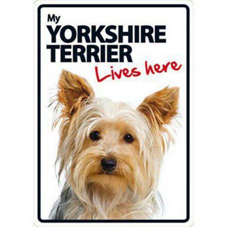 Placa Flexible My Yorkshire Terrier vive aqui