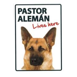 Placa Flexible Pastor Alemán vive aqui