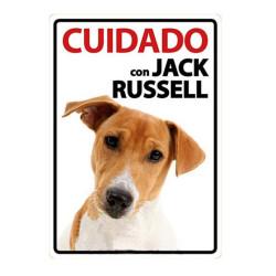 Placa Flexible Cuidado Con Jack Russell