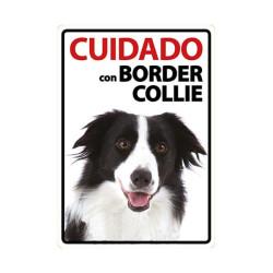 Placa Flexible Cuidado Con Border Collie