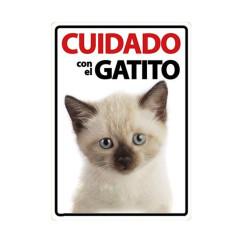 Placa Flexible Cuidado Con El Gatito