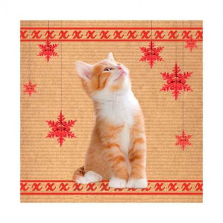 Tarjeta Navidad Gatito