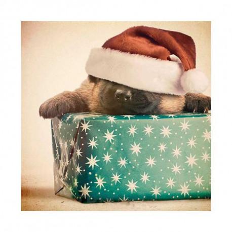 Tarjeta De Navidad Pastor Alemán