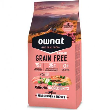 Ownat Prime Grain Free Mini Adult Pollo y Pavo