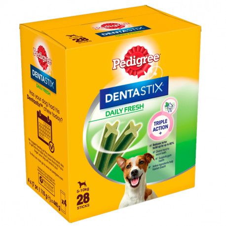 Pack Mensual Pedigree Dental Stix Fresh Perros Mini