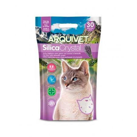 Arena de sílice para gato con aroma a lavanda