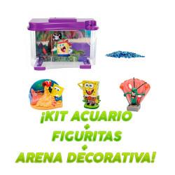 Kit Acuario Bod Esponja Pirata 3D + 3 Figuritas