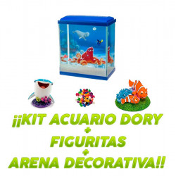 Kit Acuario Finding Dory + 2 Figuritas + Arena Decorativa