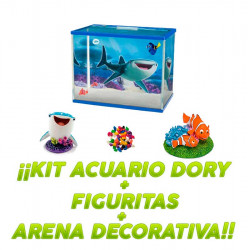 Kit Acuario Finding Dory 19L + 2 Figuritas + Arena Decorativa