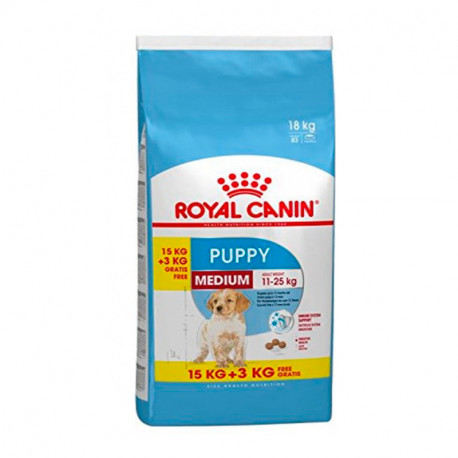 Royal Canin Medium Junior 15Kg + 3 Kg Gratis