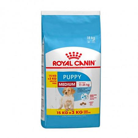 Oferta Royal Canin Medium Puppy 15Kg + 3 Kg Gratis
